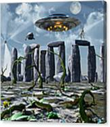 Alien Interdimensional Beings Recharge Canvas Print