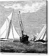 Americas Cup, 1887 Canvas Print