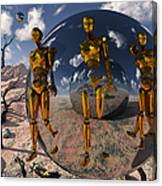 An Advanced Civilization Uses Time Canvas Print