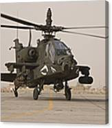 An Ah-64 Apache Helicopter Taxiing Canvas Print