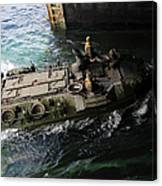 An Amphibious Assault Vehicle Enters Canvas Print