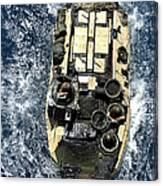 An Amphibious Assault Vehicle Navigates Canvas Print