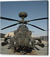 An Apache Helicopter At Camp Bastion Canvas Print