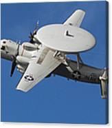 An E-2c Hawkeye In Flight Canvas Print