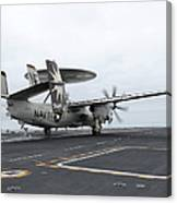 An E-2c Hawkeye Launches Off The Flight Canvas Print