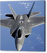 An F-22 Raptor Moves Into Position Canvas Print