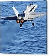 An Fa-18c Hornet Taking Off Canvas Print