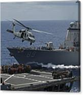 An Mh-60s Knighthawk Helicopter Canvas Print