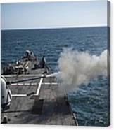 An Mk-45 Lightweight Gun Is Fired Canvas Print