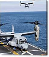 An Mv-22 Osprey Tiltrotor Aircraft Canvas Print