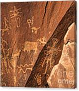 Ancient Indian Petroglyphs Canvas Print