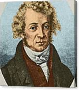 Andre Marie Amp�re, French Physicist Canvas Print