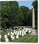 Anzac Cemetery In Harefield Churchyard Canvas Print