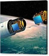 Ariane 5 Payload Deployment, Artwork Canvas Print