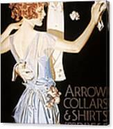 Arrow Shirt Collar Ad Canvas Print