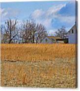 Artist In Field Canvas Print