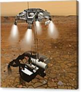 Artists Concept Of An Ascent Vehicle Canvas Print