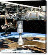 Artwork Of The International Space Station Canvas Print