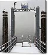 Ascona With Snow Canvas Print