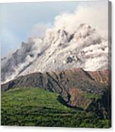 Ash And Gas Rising From Lava Dome Canvas Print