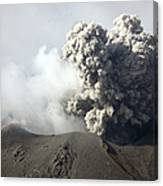 Ash Cloud Following Explosive Vulcanian Canvas Print