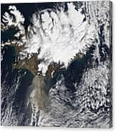 Ash Plume From Eyjafjallajokull Canvas Print
