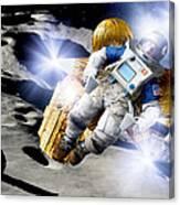 Asteroid Deflection, Astronauts Canvas Print