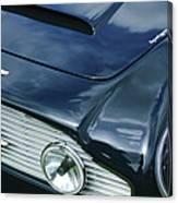 Aston Martin 1963 Aston Martin Db4 Series V Vintage Gt Grille Emblem -0140c Canvas Print