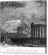 Athens: Olympian Zeus Canvas Print