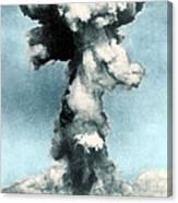 Atomic Bombing Of Nagasaki Canvas Print
