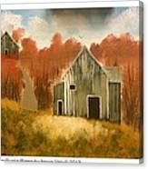 Autumn Rustic Barns Canvas Print