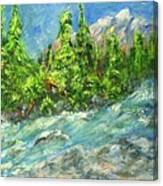 Avalanche Creek Canvas Print