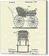 Baby Carriage 1886 Patent Art Canvas Print