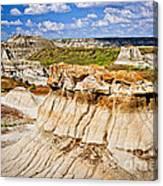 Badlands In Alberta Canvas Print