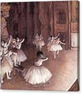 Ballet Rehearsal On The Stage Canvas Print