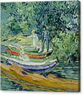 Bank Of The Oise At Auvers Canvas Print
