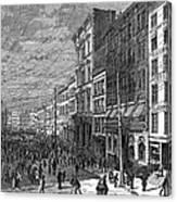 Bank Panic, 1873 Canvas Print