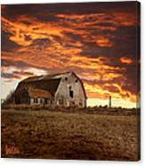 Barn On Highway 21 Canvas Print