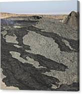Basaltic Lava Flow From Pit Crater Canvas Print