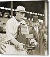 Baseball: Camera, C1911 Canvas Print