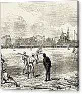 Baseball: England, 1874 Canvas Print