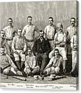 Baseball: Providence, 1882 Canvas Print
