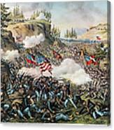 Battle Of Chickamauga 1863 Canvas Print