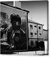 Battle Of The Bogside Mural Derry Canvas Print