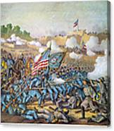 Battle Of Williamsburg Canvas Print