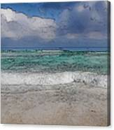 Beach Background Canvas Print
