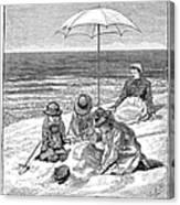 Beach Scene, 1879 Canvas Print