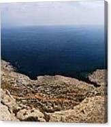 Beautiful View On Mediterranean Sea From Cape Gkreko In Cyprus Canvas Print