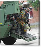 Belgian Infantry Soldiers Exit Canvas Print