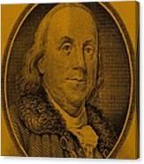Ben Franklin In Orange Canvas Print